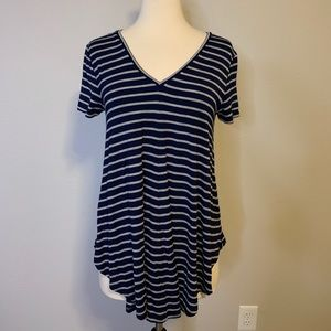 Navy & Gray Swing Style Stretchy T